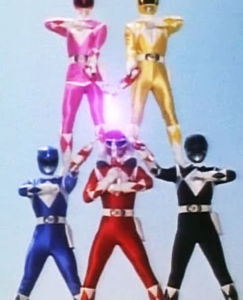 Mighty Morphin' Power Rangers team - pyramid power