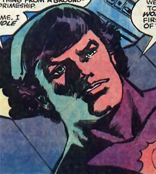 Powerhouse of Xandar (Nova character) (Marvel Comics) face closeup