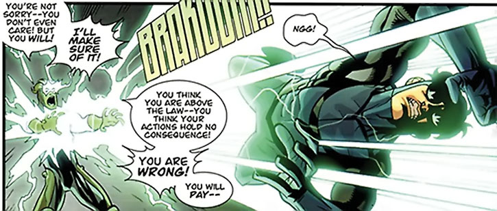Powerplex (Scott Duvall) blasts Invincible