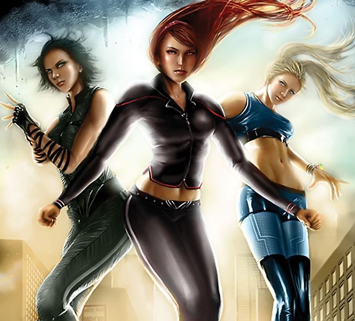 The grown-up Powerpuff Girls by Tjota