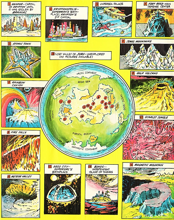 Map of Pre-Crisis Krypton - DC Comics - Superman - Writeups.org