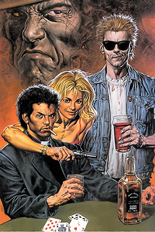 Preacher (Jesse Custer) (DC Comics Vertigo) with his friends