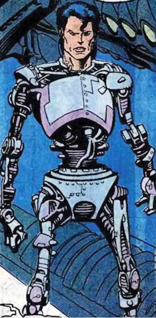 Pretty Boy of the Reavers (X-Men enemy) (Marvel Comics) and his robot body
