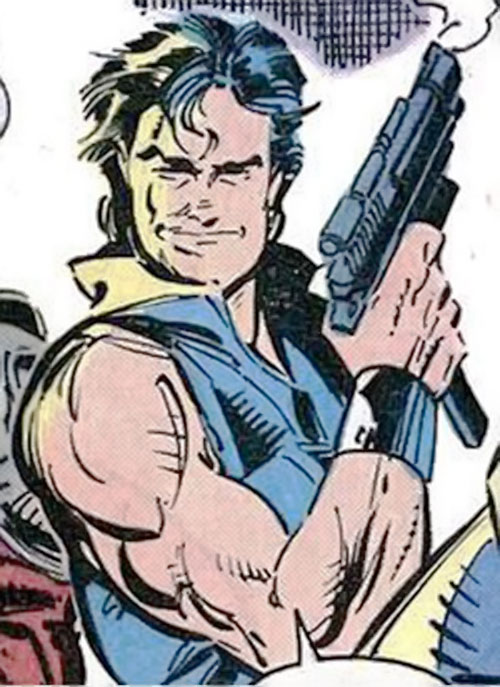 Pretty Boy of the Reavers (X-Men enemy) (Marvel Comics) with a smoking pistol
