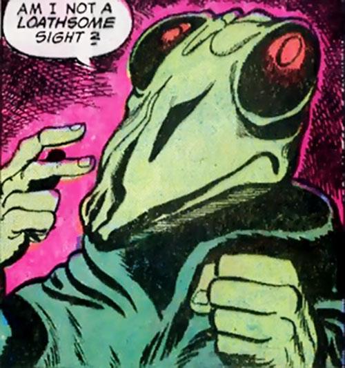 Preying Mantis (Richard Dragon enemy) (DC Comics) face closeup