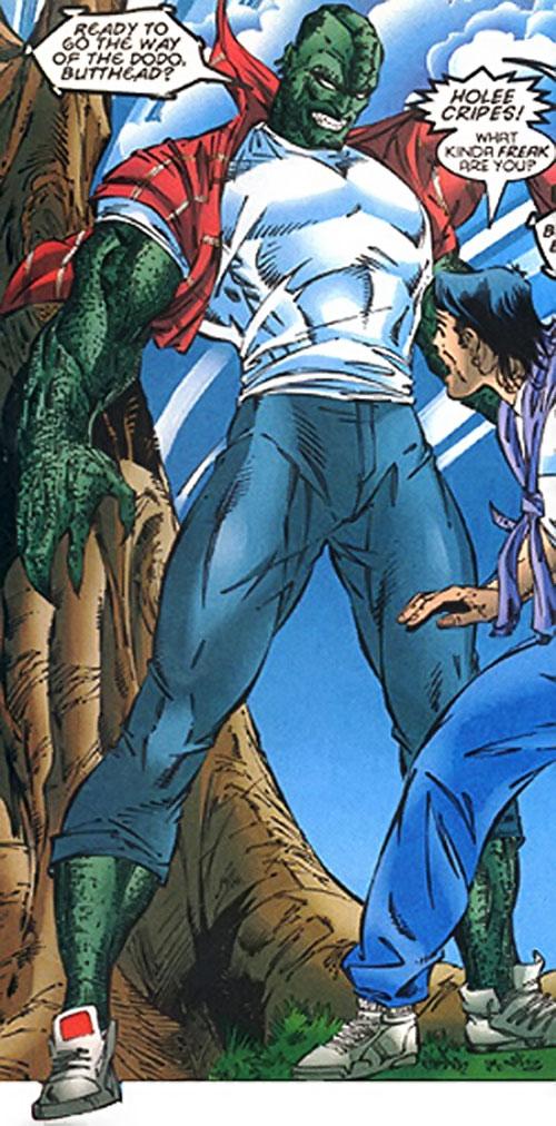 Primal (Marvel Comics X-Men) in reptile form
