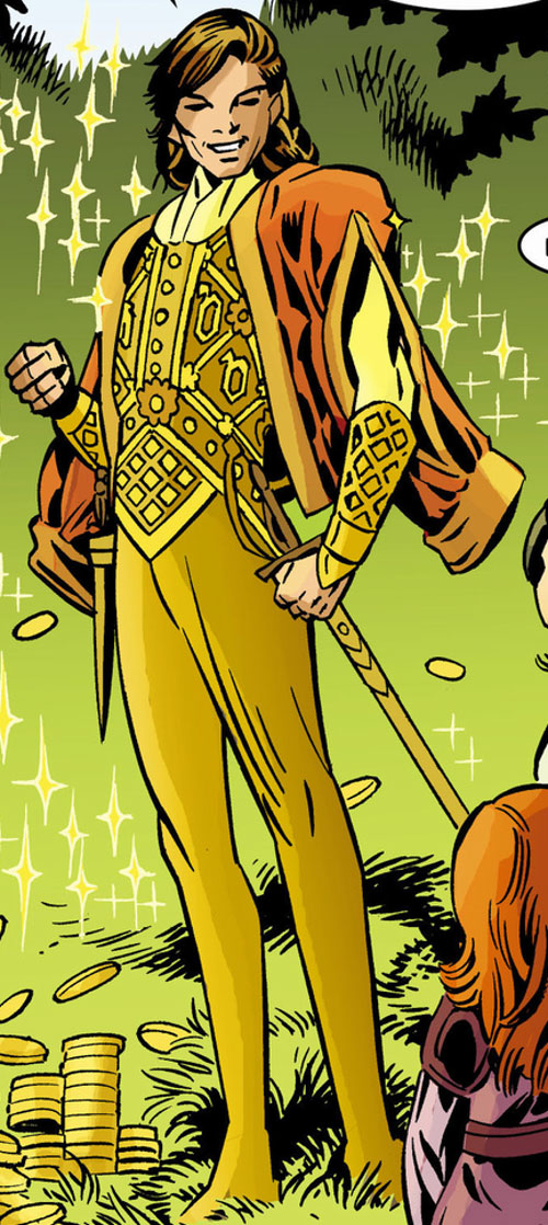 Prince Brandish Descry (Fables comics) golden clothing