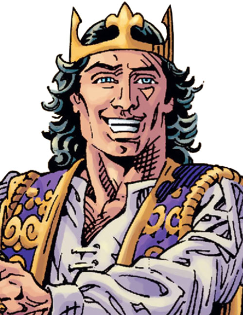 Prince Charming of the Fables (DC Comics) with his crown
