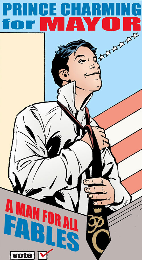 Prince Charming of the Fables (DC Comics) mayoral campaign poster