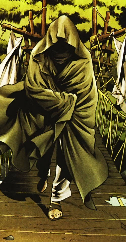 Prince of Orphans (Iron Fist character) (Marvel Comics) (John Aman) wrapped in his cloak
