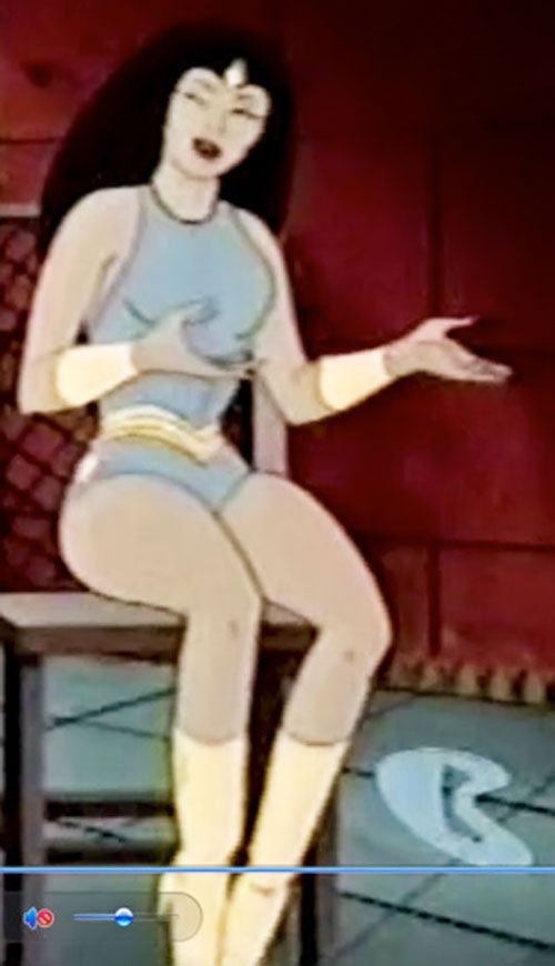 Princess Ariel (Thundarr the Barbarian) sitting and talking