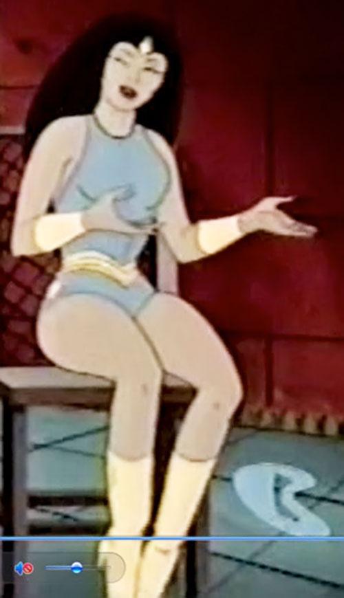 Princess Ariel (Thundarr the Barbarian) sitting and talking