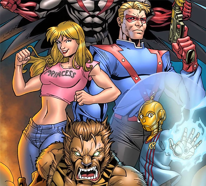 Princess (Mutants & Masterminds RPG) and the Sentinels team