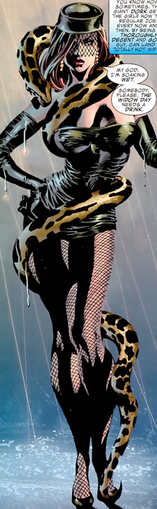 Princess Python (Marvel Comics) (Circus of Crime) under the rain
