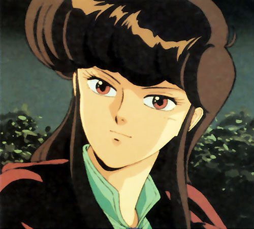 Priss Asagari of the Knights Sabre (Bubblegum Crisis) face closeup