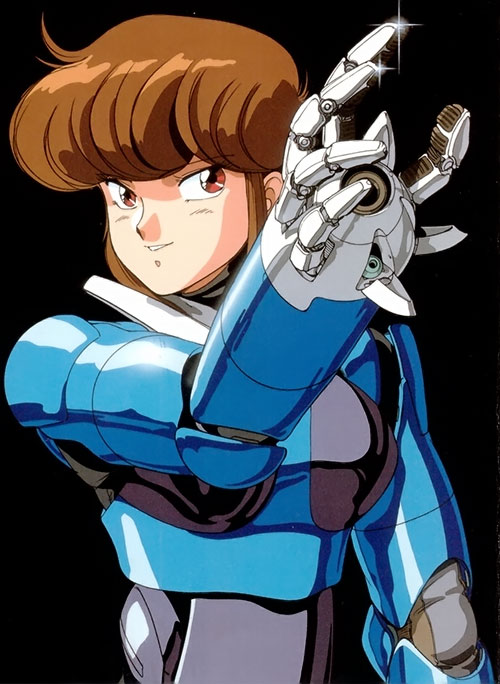 Priss Asagari of the Knights Sabre (Bubblegum Crisis), hardsuit hand closeup