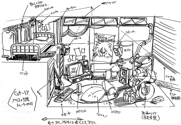 Schematics of Priss' trailer home