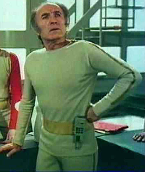 Professor Bergman (Barry Morse) in the beige uniform