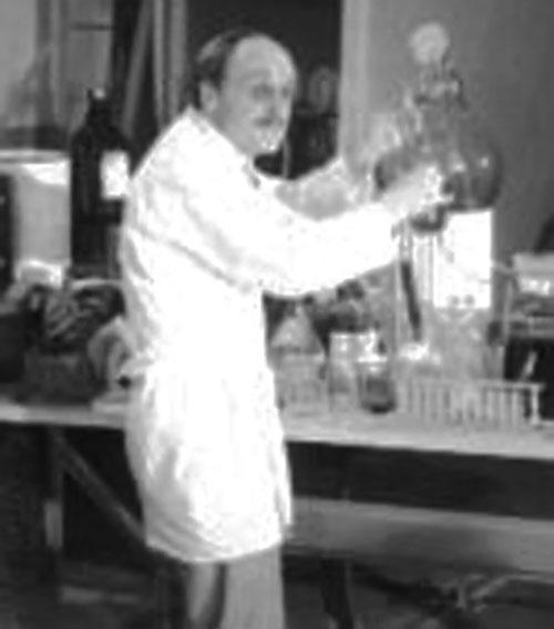 Professor Neon doing chemistry (Wild Wild World of Batwoman)