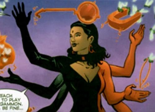 Professor Q of The Monarchy (Wildstorm Comics) manifesting multiple arms