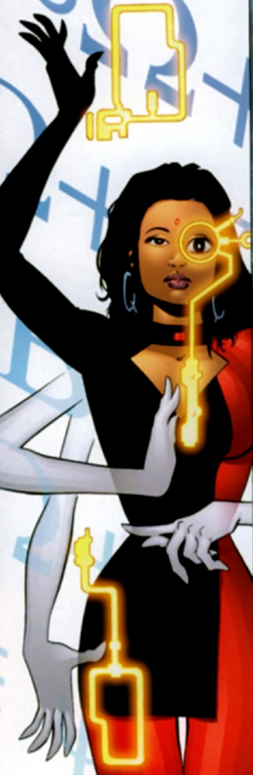 Professor Q of The Monarchy (Wildstorm Comics) using her powers