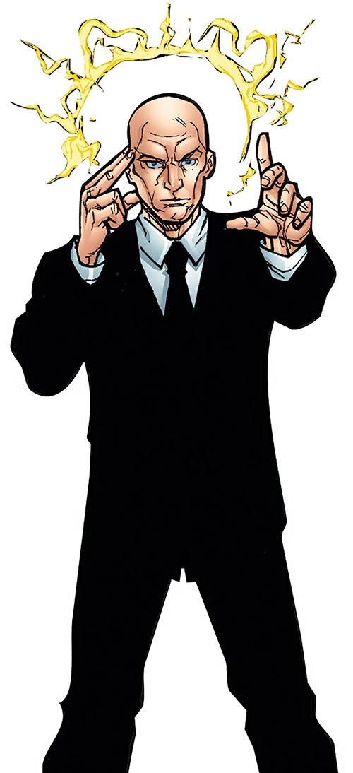 Professor X of the X-Men (Marvel Comics) using telepathy