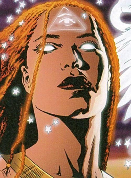 Promethea (Alan Moore ABC Comics) face closeup