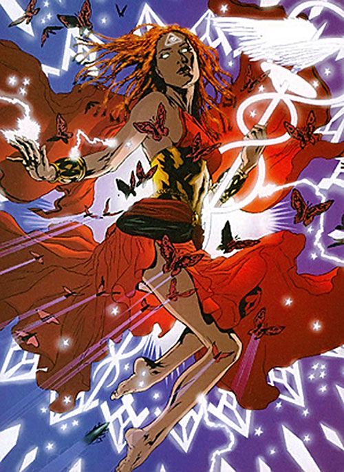 Promethea (Alan Moore ABC Comics) and red butterflies