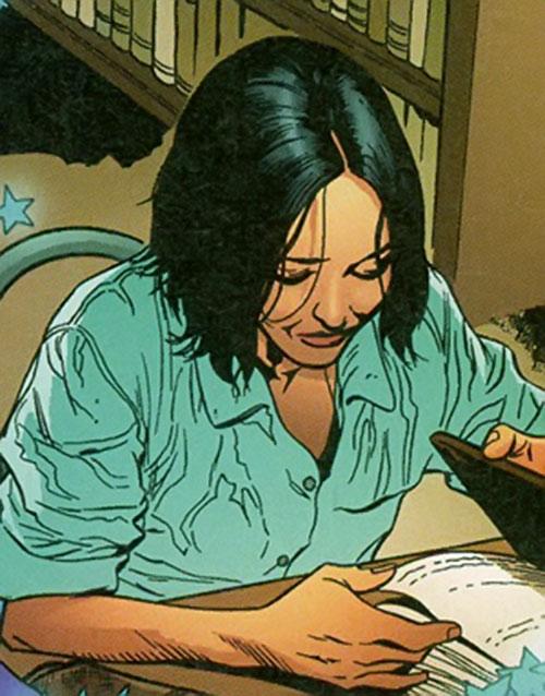 Sophie Bangs (Promethea) (Alan Moore ABC Comics) studying