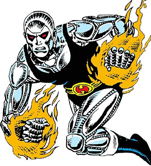 Prometheus (DC Comics) (Hybrid) with his fists burning