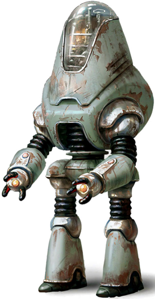 Concept art for a protectron robot in Fallout 4