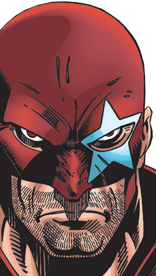 Protocide (Captain America enemy) (Marvel Comics) face closeup
