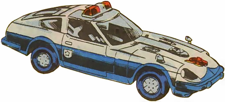 Prowl of the Transformers - 1980s Marvel Comics version - Police car form