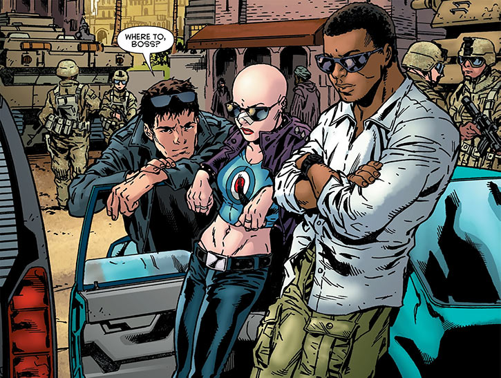 Prudence of the League of Assassins (Red Robin DC Comics) with Zed and Owens