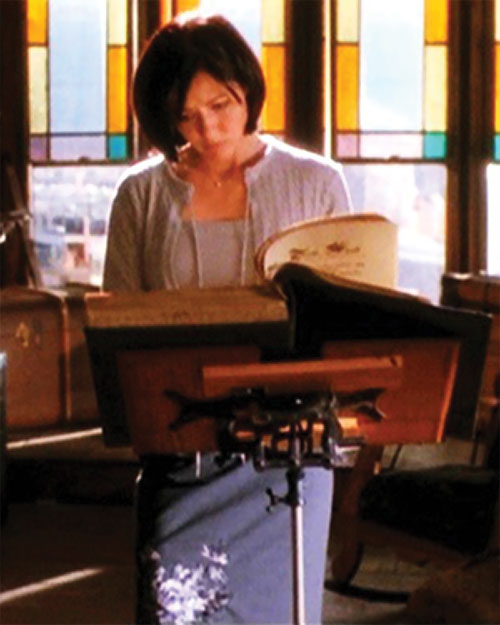 Prue Halliwell (Shannen Doherty in Charmed) reading from the Book of Shadows