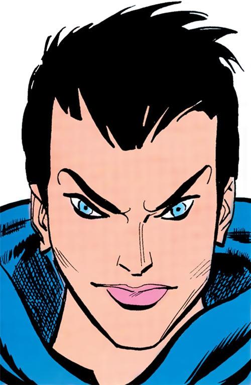 Psi (Supergirl character) (DC Comics) face closeup