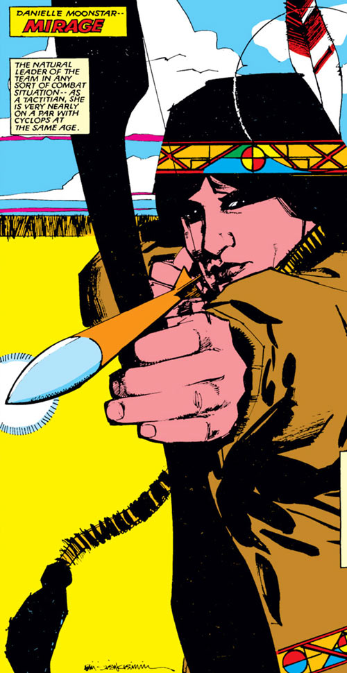 Psyche/Mirage (Danielle Moonstar of the New Mutants) (Marvel Comics) by Sienkiewicz