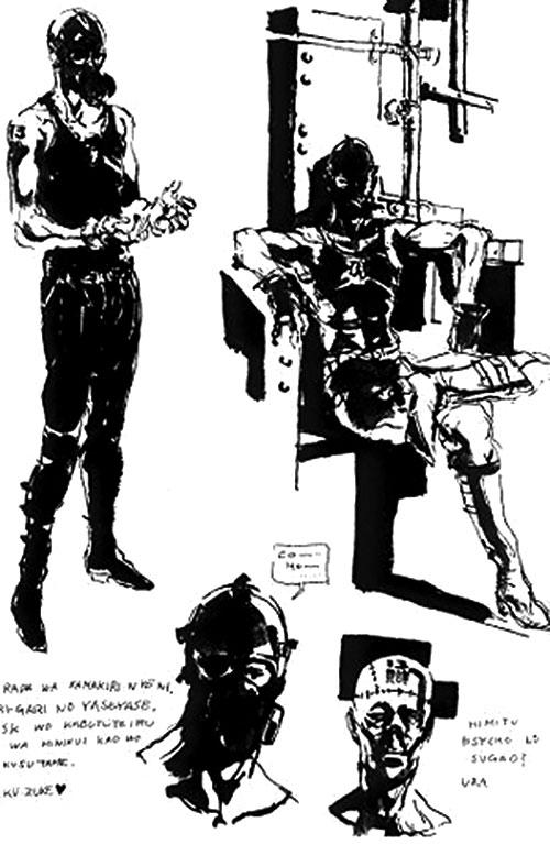 Psycho Mantis (Metal Gear) concept sketches