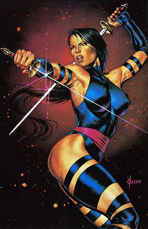 Psylocke of the X-Men (1990s Marvel Comics) by Jusko