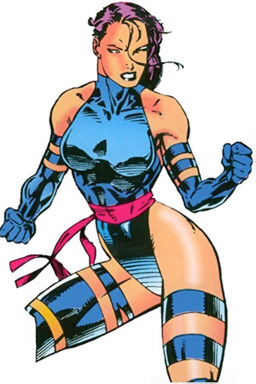 Psylocke of the X-Men (1990s Marvel Comics)