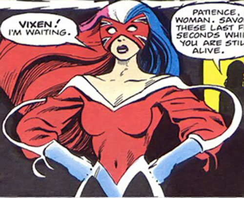 Psylocke of the X-Men (Marvel Comics) in her Captain Britain costume