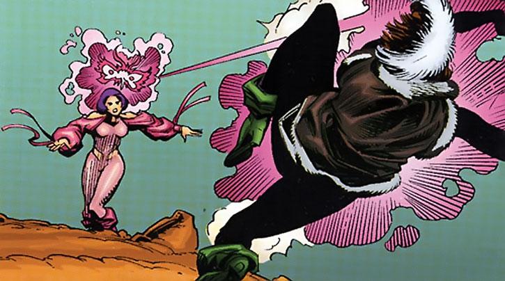 Psylocke blasts Rogue