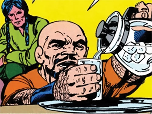 Puck (Alpha Flight) (Marvel Comics) (Eugene Judd) pouring a glass of water