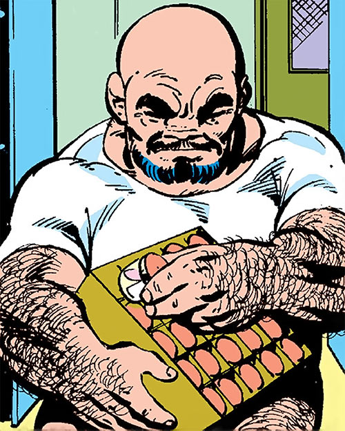 Puck (Alpha Flight) (Marvel Comics) (Eugene Judd) examines drugs