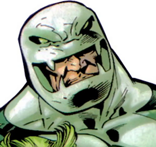 Puff Adder of the Serpent Society (Marvel Comics) head closeup