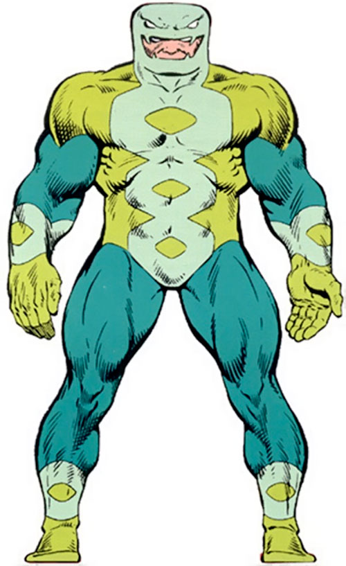 Puff Adder of the Serpent Society (Marvel Comics) from the Master Edition handbook