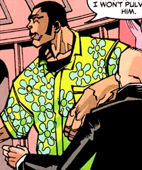 Puff Adder of the Serpent Society (Marvel Comics) in his civvies