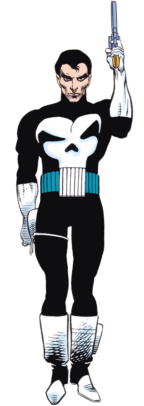Punisher (Marvel Comics) art from the 1983 Official Handbook of the Marvel Universe
