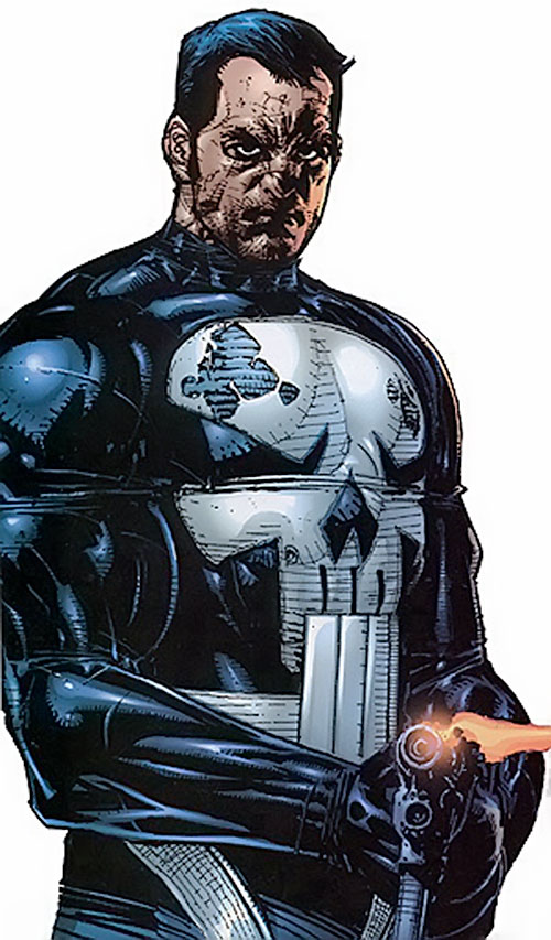 Punisher (Marvel Comics) with impacts on his body armor