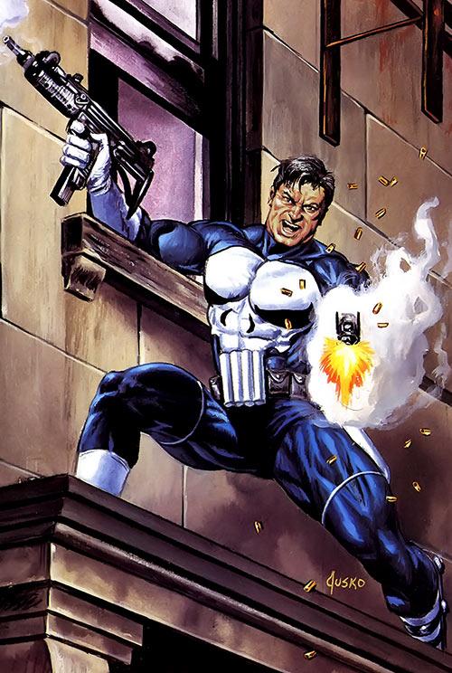 Punisher (Marvel Comics) by Joe Jusko masterpieces painting